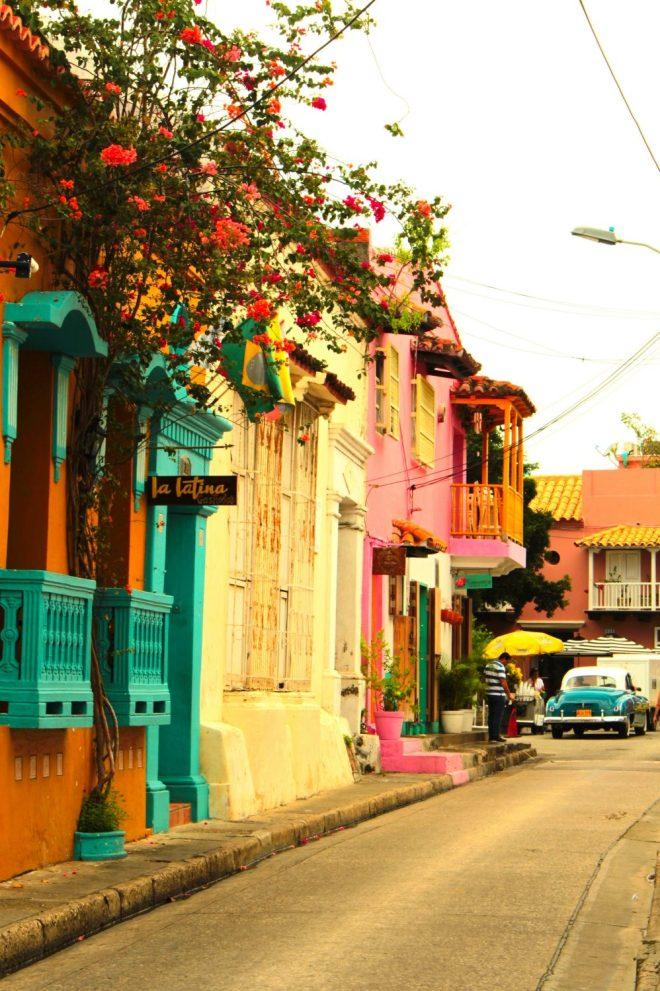Rue de Carthagène des Indes Colombie