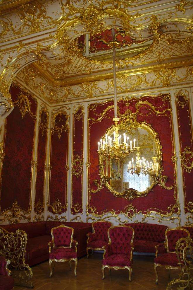Boudoir rouge Musée de l'Ermitage Saint Petersbourg