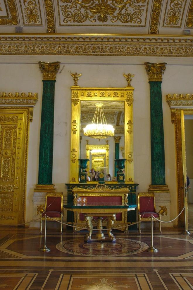 Salle Malachite Musée de l'Ermitage
