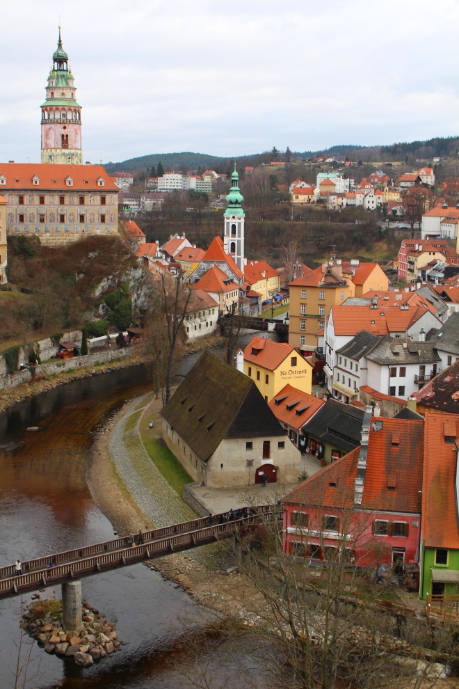 Vieille ville de Cesky Krumlov en République Tchèque